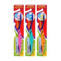 Зубная щетка Meggi Fresh&White Zigzag Comfort, средней  жесткости