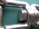 Нержажавеющий вертлюг для якорных цепей, вилка-вилка., фото 5