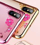 Силіконовий чохол з квітами для Huawei Honor 8X / Скла в наявності, фото 2