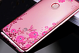 Силиконовый чехол с цветами для Huawei Honor 8X / Стекла в наличии, фото 4