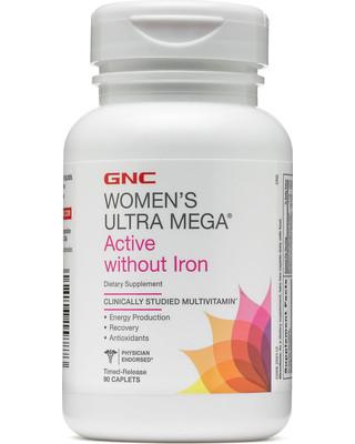 Вітаміни для жінок GNC Womens Ultra Mega Active No Iron 90 caps
