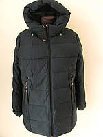 Женский пуховик прямого силуэта с втачным рукавом, зимний с капюшоном (р-р.50,52,54,56,58,60) Код 4047М