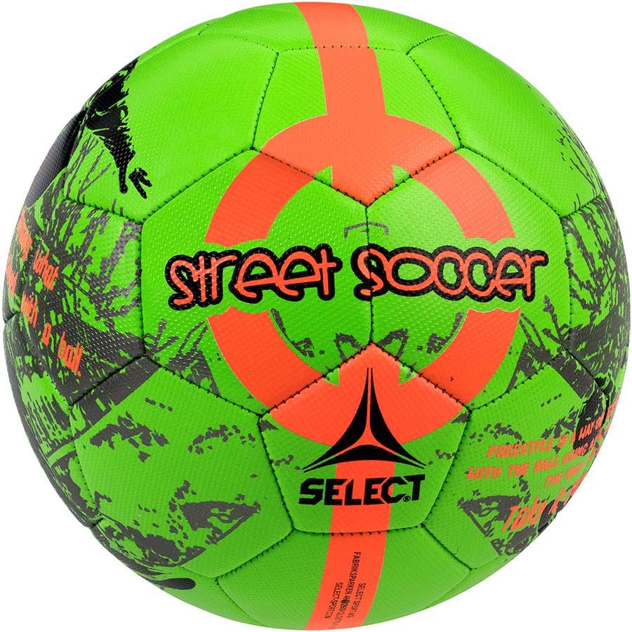 Мяч Футбольный Select Street Soccer New, зелено-оранжевый, р, 4,5 не ламинированный