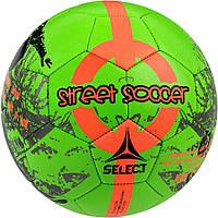 Мяч Футбольный Select Street Soccer New, зелено-оранжевый, р, 4,5 не ламинированный, фото 1