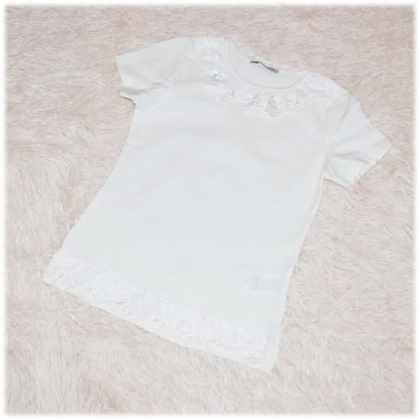 Блуза школьная с коротким рукавом айвори для девочки ТМ Toontoy 152 158