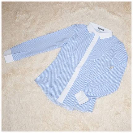 Блуза школьная с длинным рукавом голубая Nika ТМ Newpoint  для девочки 146 164 170, фото 2