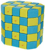 Мягкие магнитные кубики Jolly Heap голубой/зелёный, фото 1