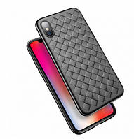 Чехол накладка xCase на iPhone 7/8 Weaving Case черный
