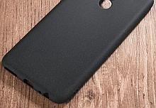 Матовый силиконовый Soft-touch чехол для Huawei Honor 8X / Стекла в наличии / Черный