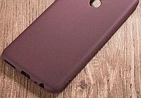 Матовый силиконовый Soft-touch чехол для Huawei Honor 8X / Стекла в наличии / Темно-бордовый