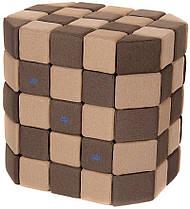 Мягкие магнитные кубики Jolly Heap коричневый/бежевый
