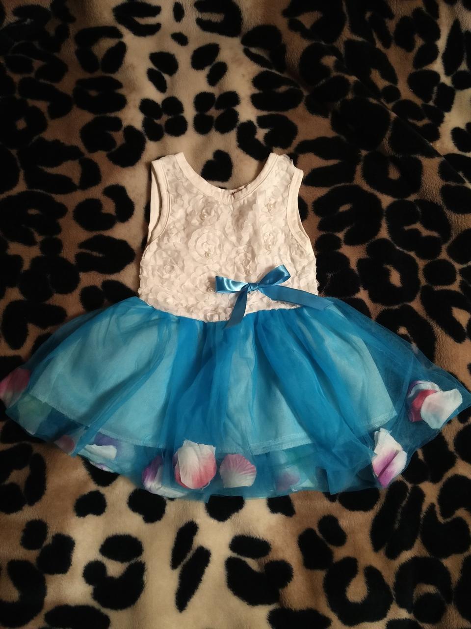 Нарядное платье детское для принцессы на праздник 1 год (80 см)