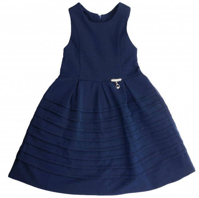 Школьный сарафан Jennifer TM Newpoint синий с карманами размеры 128