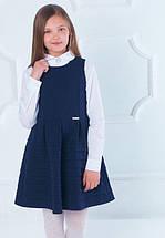 Школьный сарафан Jennifer TM Newpoint синий с карманами размеры 128, фото 3