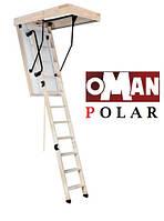 Сходи на горище Oman Polar з ножками та поручнем 120х70, фото 1