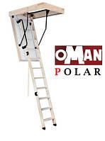 Сходи на горище Oman Polar з ножками та поручнем 120х60