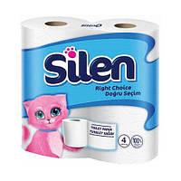Туалетная бумага Silen двухслойная Белая 20 метров 4 рулона (8690530802117)