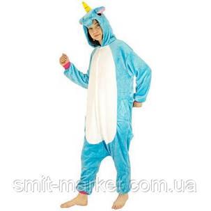 Кигуруми Единорог голубой, фото 2