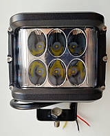 Дополнительная светодиодная (LED) фара,  36 Вт, со стробоскопом желтого цвета., фото 1