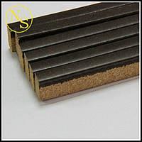 Пробковый порожек (компенсатор) RG 108 Темный орех 900х15х7мм, фото 1