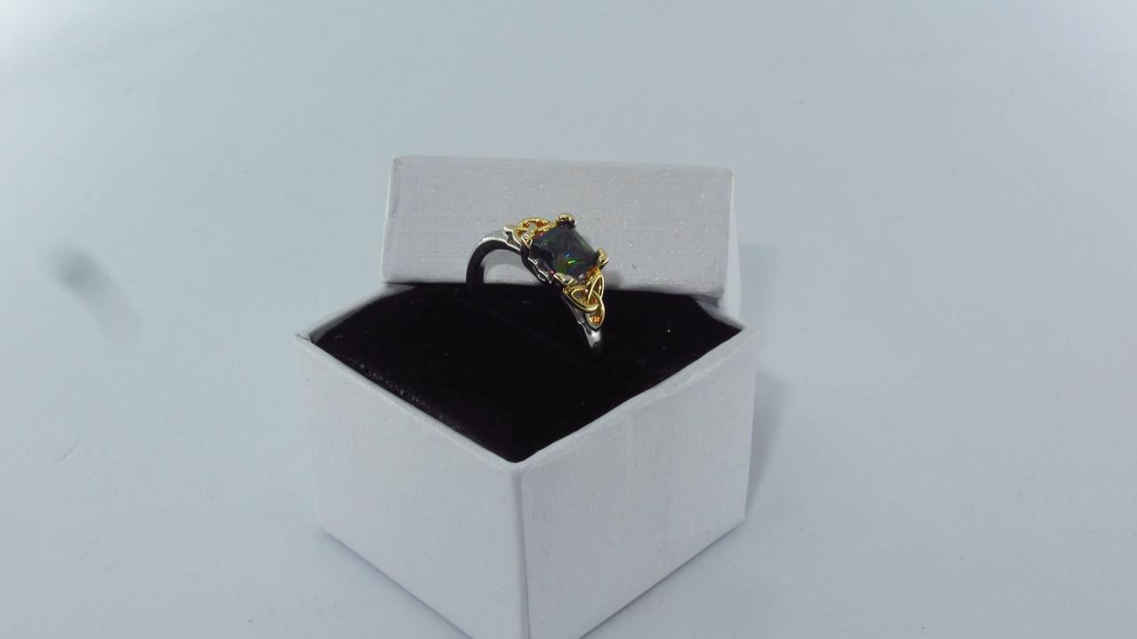 Серебряное кольцо, Кристалл, с камнем мистик, размер 17