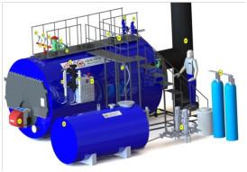 Паровой котел на газу Akkaya  SBK150-10 (6000 кг/ч, 10 бар)