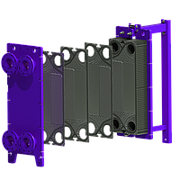 Разборный теплообменник на паровые задачи  100 кВт