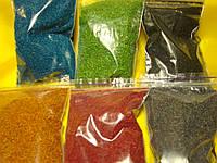 Кольорові ошурки  для об'ємної аплікації 6 кольорів по 20 грам
