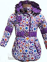 Удлиненная, красочная куртка для девочек, примерно на 3-6 лет.