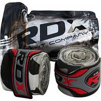 Бинты боксерские RDX Fibra Gray Camo 4.5 м, фото 1