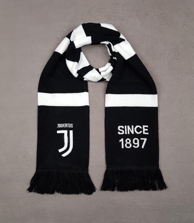Футбольный шарф Ювентус черный