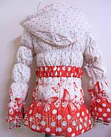 Удлиненная куртка для девочек с рисунком