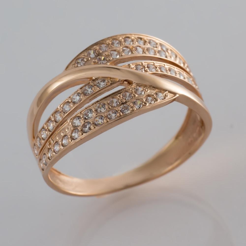 Золотое кольцо с фианитами КП1728