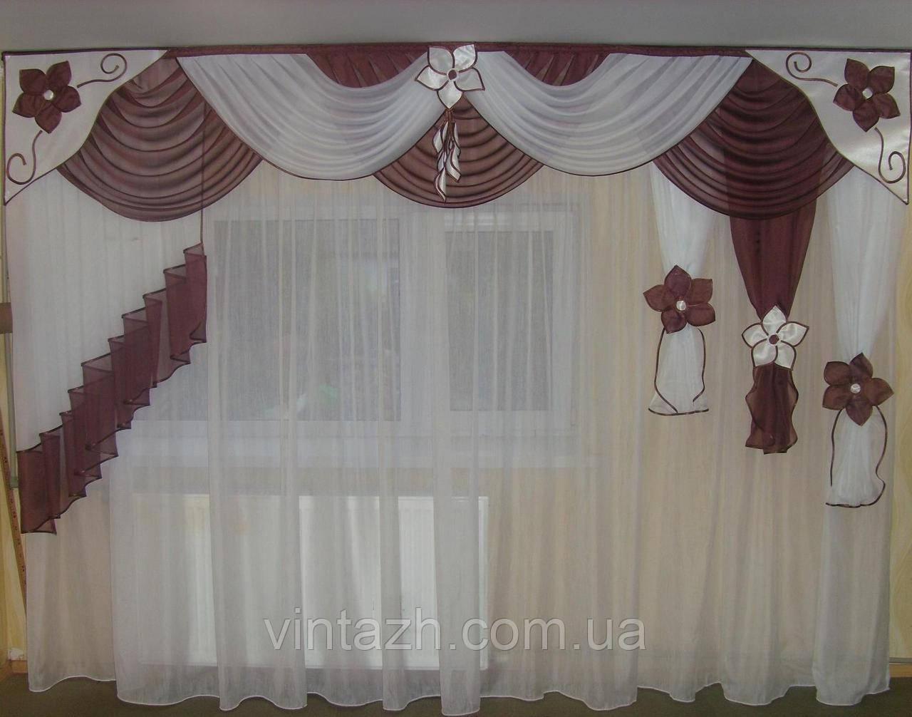 Модный ламбрекен в гостиную ручной работы в Украине