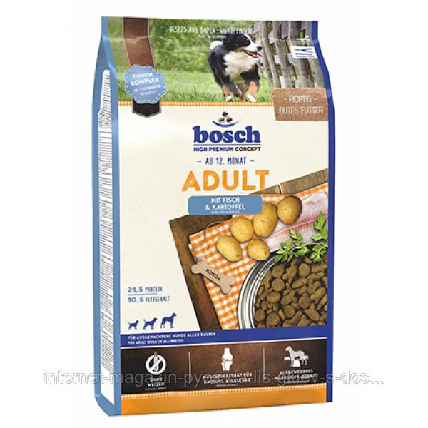 Bosch HPC Adult Fish (для взрослых собак с рыбой и картофелем), 15 кг