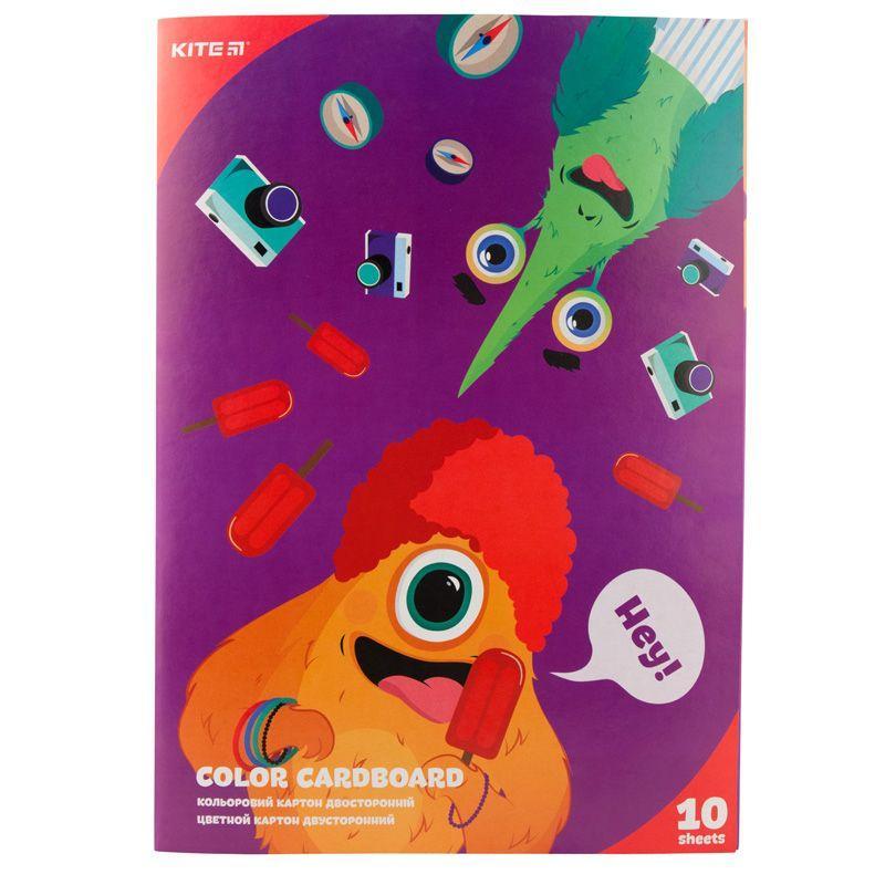 Картон цветной двусторонний Kite K19-255 (10 листов)
