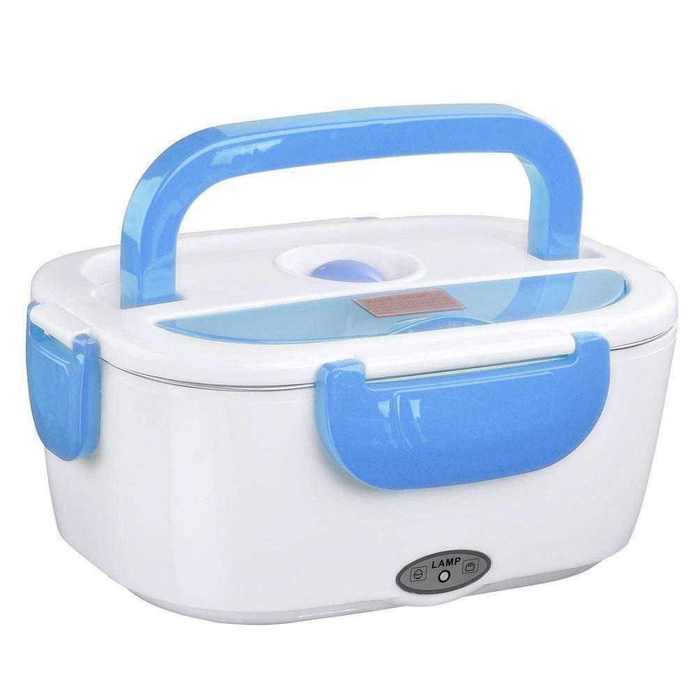 Электрический ланч бокс с подогревом от сети 220В Electric Lunch Box 1.05 л Синий