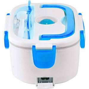 Электрический ланч бокс с подогревом от сети 220В Electric Lunch Box 1.05 л Синий, фото 2