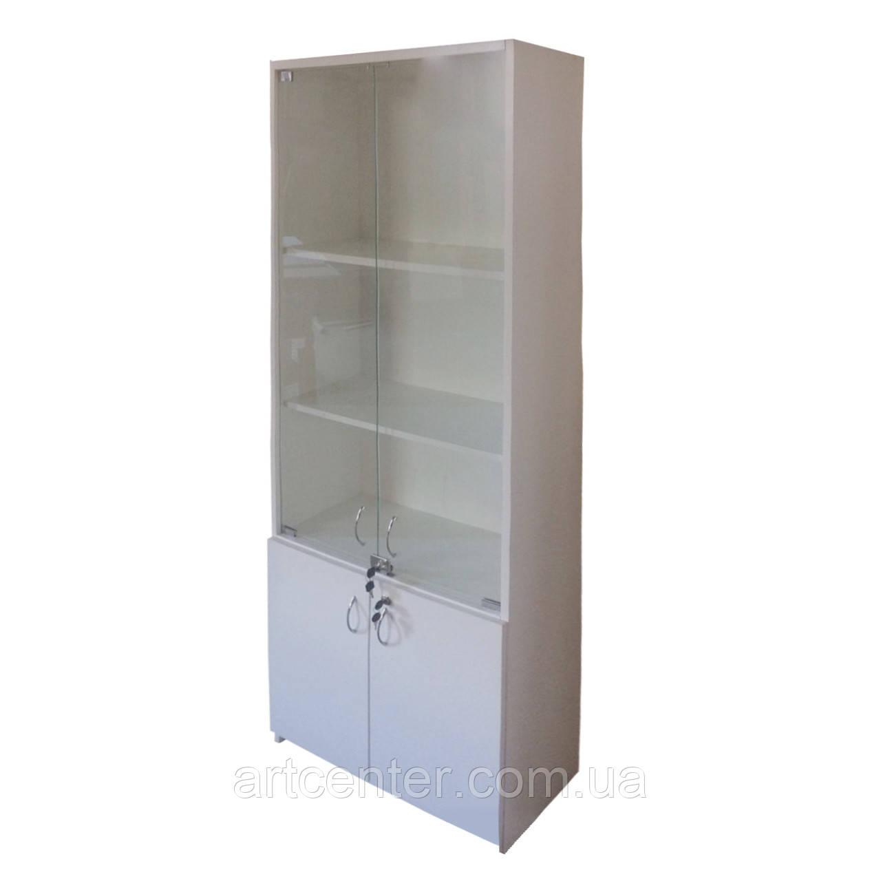 Шкаф-витрина с полочками ЛДСП