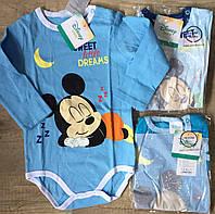 Бодик для мальчиков оптом, Disney, 6-23 мес.,  № 81513