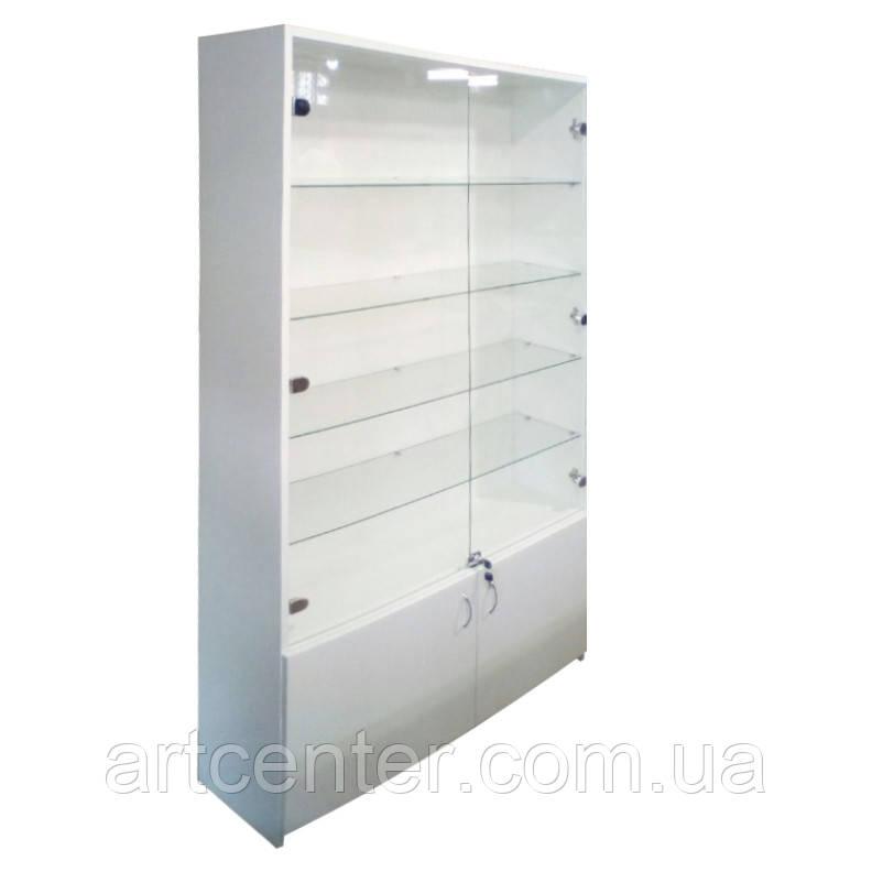 Витринный шкаф большой со стеклянными полочками