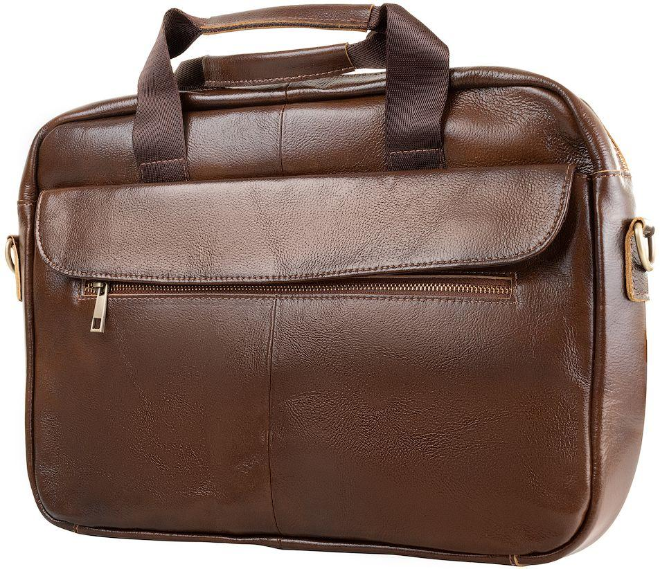 5972148825c7 Мужская сумка-портфель ETERNO RB-BX1127C, кожаная, темно-коричневая ...