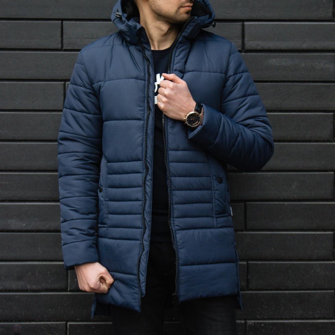 Мужская куртка, синего цвета. Куртка зимняя. ТОП КАЧЕСТВО!!!