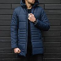 Мужская куртка, синего цвета. Куртка зимняя. ТОП КАЧЕСТВО!!!, фото 1