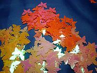 Паєтки метелики різнобарвні  17 мм  10 грам