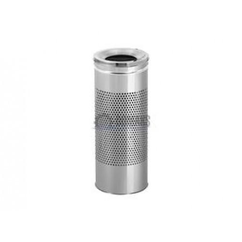 0278 Урна-пепельница из нержавеющей стали,27 л