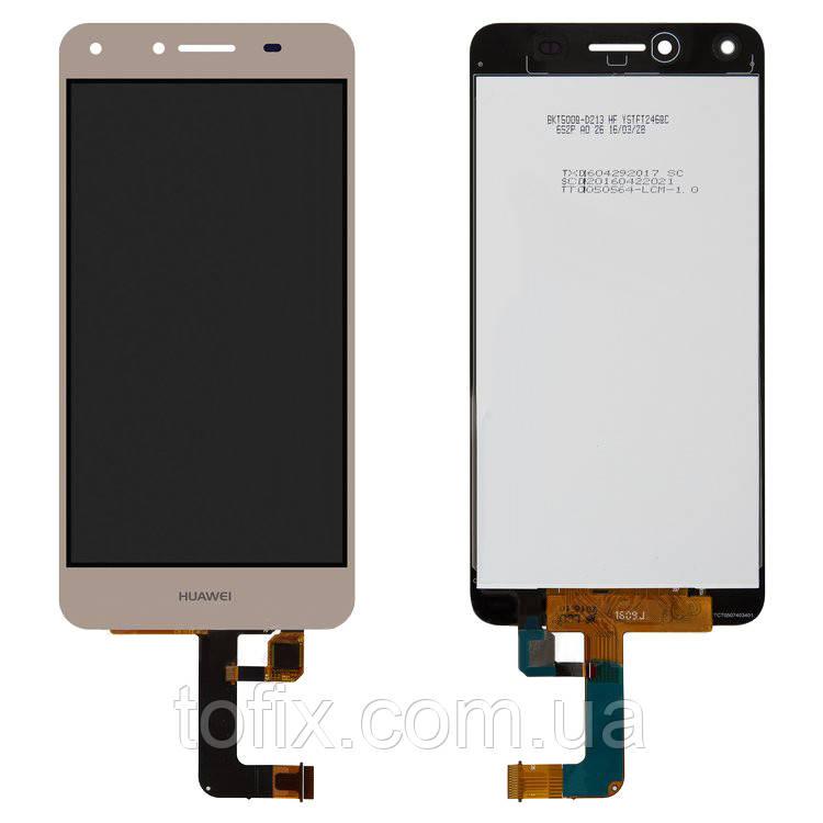 Дисплейный модуль (экран и сенсор) для Huawei Y5 II 2016 (CUN-U29), Honor 5, Honor Play 5, золотой, оригинал