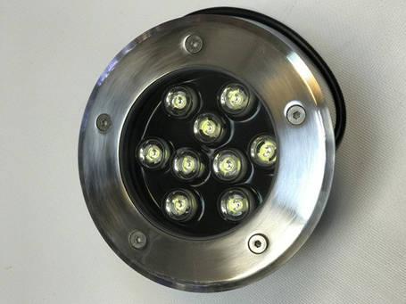 Светодиодный тротуарный линзованный светильник LM989 9W красный, синий, зеленый, желтый Код.59140, фото 2