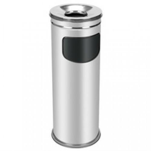 0280-А Урна-пепельница из нержавеющей стали ,глянец 15 л