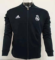 Олимпийка футбольная Реал Мадрид черная 2018-2019